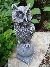Latex owl on sphere globe mold plaster concrete animal bird casting mould
