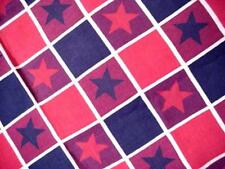 Patriotic RED WHITE & BLUE Summer Holiday Tablecloth STARS On Checkerboard NICE!