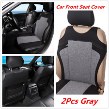 2xGray Polyester Cationic Fabric Car Front Seat Cover Protector Cover Anti-dirty