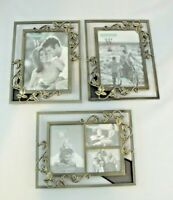 Sonoma Brass Picture Frames Set/3 5x7 3 Photo Antique Metal Ivy Leaf Vine Weston