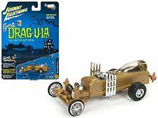 Johnny Lightning Rare1:64 Barris Drag-U-La-The Munsters DIECAST MODEL CAR GOLD