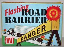 "Vintage Rare Winslow Template Co. USA ""War"" Flashing Road Barrier Battery Train"