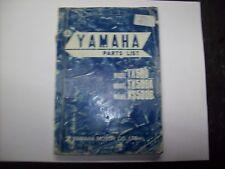 Catalogo ricambi originale Yamaha TX 500  XS 500B