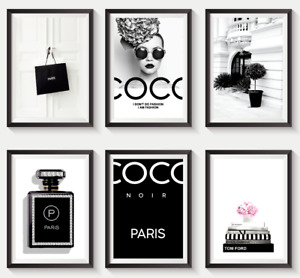 Set of 6 Fashion Vogue Designer Wall Art Bedroom Print Home Posters Deco Gift S6