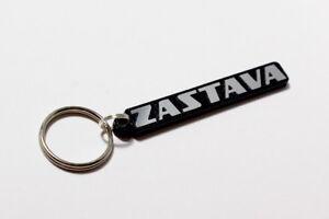 Zastava Yugo Keyring - Brushed Chrome Effect Classic Car Keytag / Keyfob