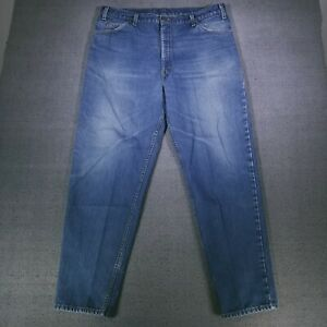 Vintage Levi's 550 Men's Jeans 42X32 Made In USA Blue Relaxed Tapered Orange Tab
