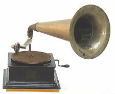 LARGE ANTIQUE THE GRAMOPHONE CO, HMV UK TURNTABLE VINTAGE RECORDS PHONOGRAPH