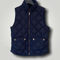 J Crew Excursion Quilted Down Vest. Navy. Size: Small Style: B0109. Sleeveless