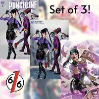 🔥🤡🗡 PUNCHLINE #1 GREG HORN SET OF 3 Exclusive Variants Cvr A B C Joker War NM