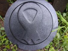 """Cancer Ribbon stepping stone mold concrete plaster mould  8"""" x 1.20"""" thick"""