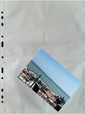 100 x  A4 Fotohüllen, Sammelhüllen mit weißer Mittelfolie, 8 Taschen à 10x15 cm
