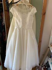 Lou Lou London Bridal Tea Length Wedding Dress Size 14 *Never Worn* Vintage 50s