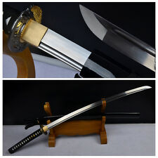 Full Tang Japanese Samurai Sword Katana 1060Carbon Steel Blade Alloy Fittings#19