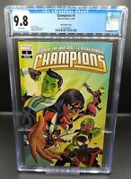 CHAMPIONS 1 CGC 9.8 (2019) 1:25 MICHAEL CHO INCENTIVE VARIANT NM