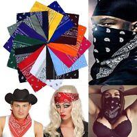 Fashion Mens Womens Square Paisley Bandanas Head Band Neck Wrap Scarf Wristband