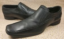 KENETH COLE REACTION SLIP ON BLACK LEATHER MOC TOE LOAFERS 11.5 M MEN'S SHOES