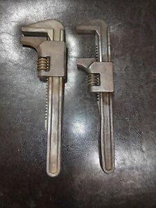 "Lot Of (2) VINTAGE 9"" AUTO  PIPE WRENCH STEEL"