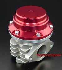 38MM Wastegate 20 PSI Turbo External Exhaust Dump Valve w/SS Flange Red