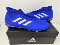 NEW! Adidas Men's Predator 19.3 FG Lace Up Soccer Cleats Blue #BB8112 W76 ck