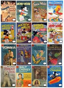 Classic DISNEY 100+ comic Collection DVD Gold Silver Age DELL FOUR COLOR COMICS