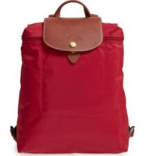 Longchamp Le Pliage Nylon Foldable Backpack **Deep Red** ~NIP~
