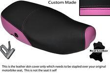 Rosa Y Negro Custom encaja Piaggio Vespa Lx 125 Doble Cuero Funda De Asiento