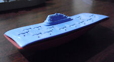 "Vintage 1950s Usa Marked Plastic Aircraft Carrier Ship 4 1/4"" Long"
