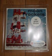 VIEWMASTER REELS MOON ROCKETS & GUIDED MISSILES 1959 GAF  ORIGINAL SPACE B656 E