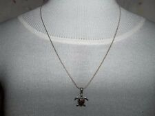 """JEWELRY, NECKLACE"" Cute Sea Turtle with Amber looking Spots on its Back Shell"