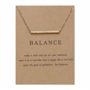 Elegant Gold Balance Paper Card Necklace Short Chain Women Charm Jewelry Gift