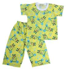 "Sponge Bob ""Barbel"" Print Pajama Set Boys Toddlers / Kids Sleepwear, M (4-5 y/o)"