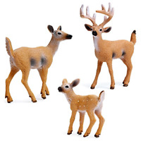 Cute Christmas Deer Figure Doll White-tailed Reindeer Home Party Xmas Decor Toy