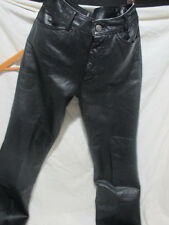 MAXIMA WILSONS+WOMEN'S+STRAIGHT+100% LEATHER+PANTS+BLACK_SIZE 6