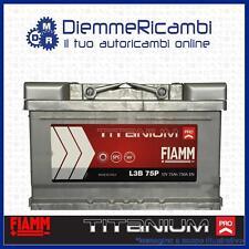 BATTERIA FIAMM 75Ah 730A = BOSCH - VARTA - L3B75P - FORD - OPEL