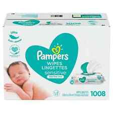 Pampers Baby Wipes, Sensitive Perfume Free, 14 Pop-Top Packs (1008 wipes or 936w
