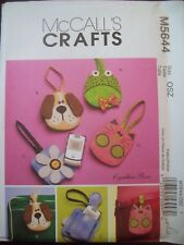 McCalls Crafts Pattern M5644 Fabric Cell Phone Case Frog Flower Puppy Kitten UC