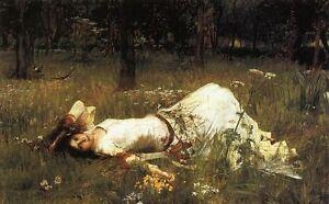 Handmade Oil Painting repro John William Waterhouse Ophelia