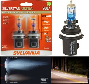Sylvania Silverstar Ultra 9007 HB5 65/55W Two Bulbs Head Light High Low Replace