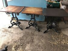 Antique pub Bar table with Victorian cast iron base Steam Punk