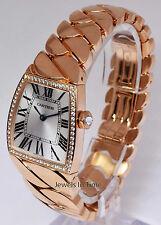 Cartier LG La Dona 18k Rose Gold & Diamonds Quartz Watch & Box WE600501