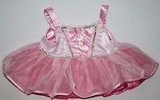 BABW Build A Bear Clothes Pink Princess Ballerina Tutu Ballet Party Dress Tulle