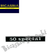 """1628 - TARGHETTA """" SPECIAL """" PER TELAIO POSTERIORE VESPA 50 SPECIAL - BICASBIA"""