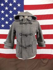 Gap Coat Hooded Toggle Wool Blend Flannel Lined Junior Small Women's