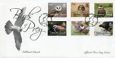 Falkland Islands 2016 FDC Birds of Prey 6v Cover Owls Falcons Caracara Stamps