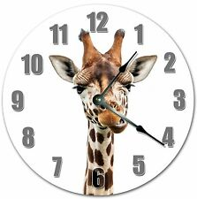 """10.5"""" Grumpy Giraffe Clock - Zoo Animal Clock - Large 10.5"""" Wall Clock - 4077"""