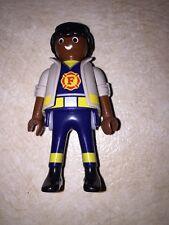 Vintage 1997 - Playmobil - Fire Chief Figure - Geobra - LOOSE No Helmet GUC (2)@