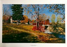 AMAZING LANDSCAPE PAINTING ART SIGNED LIMITED EDITION PHILLIP WIKOFF LITHOGRAPH