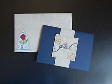 Beauty and the Beast Pocket Style Wedding Invitation Set Personalized RSVP Card