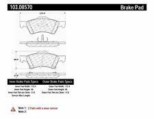 Ceramic Disc Brake Pad Set-Rear Disc Front Centric 103.08570