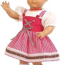 Schildkröt Puppenkleid kariertes Puppen Dirndl für 46 cm große Klassikpuppen